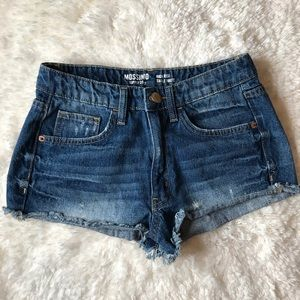 Mossimo Juniors Size 7 Distressed Denim Shorts